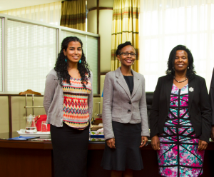 From Left to Right: Learning division of BRCK Inc Lead Nivi Mukherjee, BRCK Board member Juliana Rotich and Kenyatta University VC Prof Olive Mugenda.