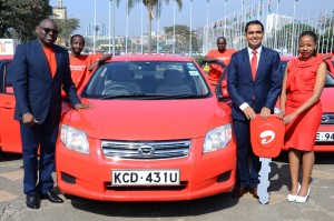 Airtel Kenya CEO Adil El Youssefi Adil El Youssefi and Marketing Director Levi Nyakundi during the launch of Smartika Na 5X bonus promotion.