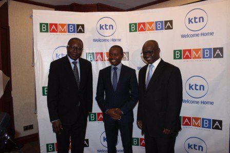 From L to R: Radio Africa Group C.E.O Patrick Quarcoo, Joe Mucheru the Ministry of Information, Communications and Technology, And Sam Shollei the Standard Group C.E.O
