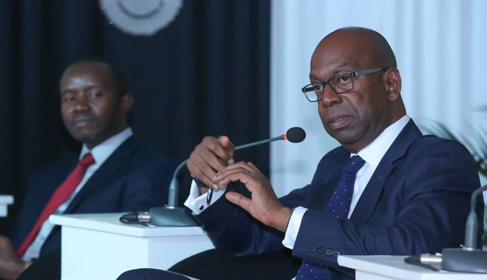 Safaricom Limited Chief Executive Officer Bob Collymore responds to questions during the launch of Safaricom network call guarantee and data manager product. Image Credit: Safaricom