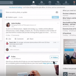 The Homepage of the newly redesigned LinkedIn Website