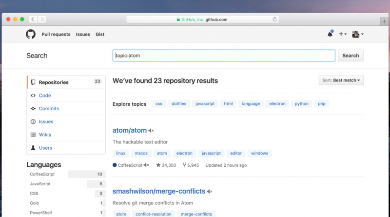 GitHub introduces New Feature to help users discover interesting repositories