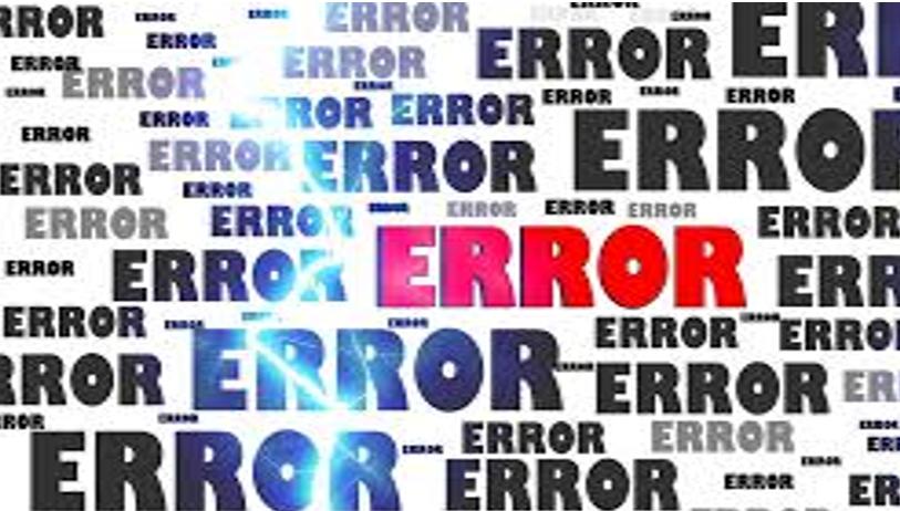Data Loss Error