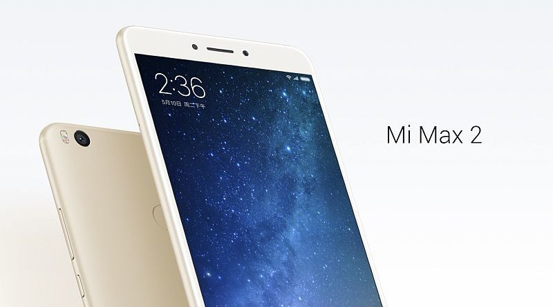 Xiaomi's new Mi Max 2 packs a 6.44-inch display and 5300mAh battery