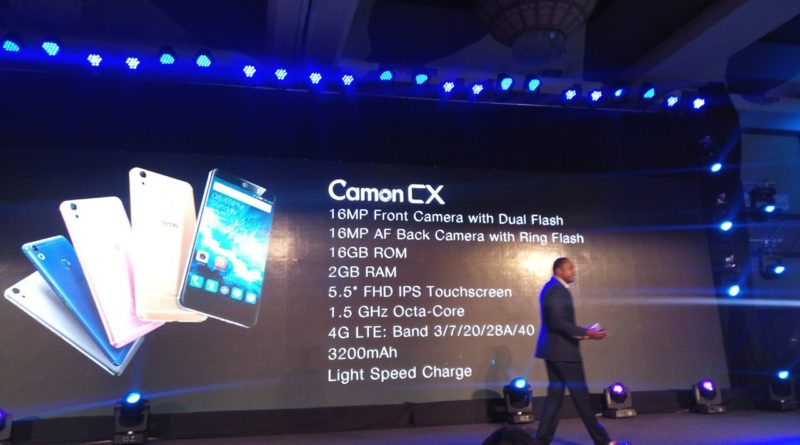 Demand for TECNO Mobile phones went up after the Camon CX launch