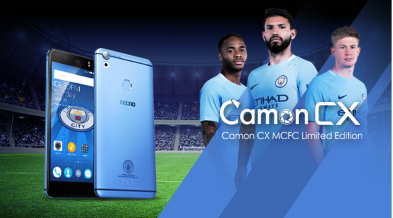 The TECNO Camon CX Manchester City Limited Edition Smartphone is finally here