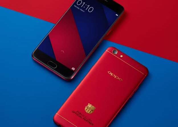 Oppo F3 Barcelona edition with 18K gold-plated club insignia is launching in Kenya.