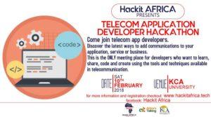 Telecom Application Developer Hackathon @ KCA University main campus(Thika Road)